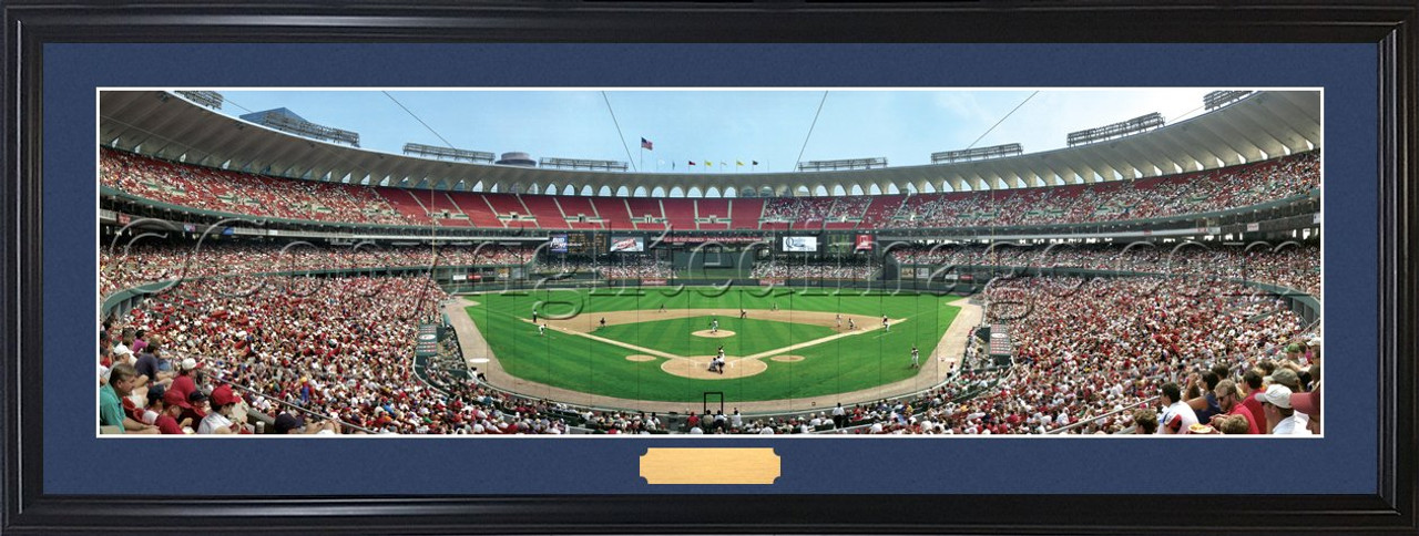 St. Louis Cardinals at Busch Stadium Panoramic Poster