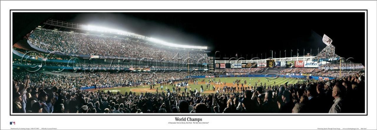 """New York Yankees """"World Champs"""" Yankee Stadium Panoramic Poster"""