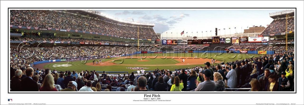 """New York Yankees """"First Pitch"""" Yankee Stadium Panoramic Poster"""