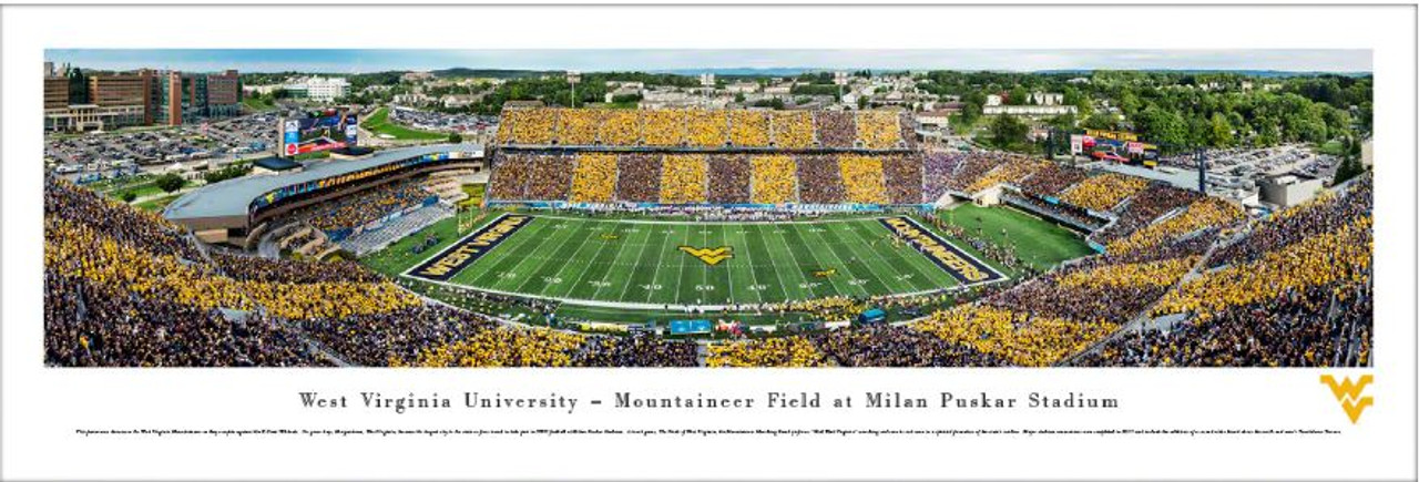 WVU Mountaineers at Mountaineer Field Panoramic Poster