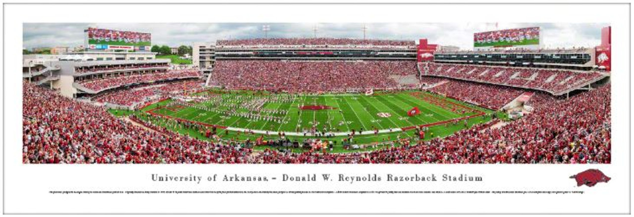 Arkansas Razorbacks at Razorback Stadium Panoramic Poster