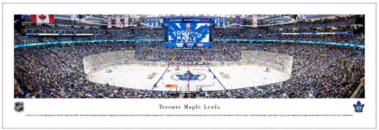 Toronto Maple Leafs at Scotiabank Arena Panoramic Poster