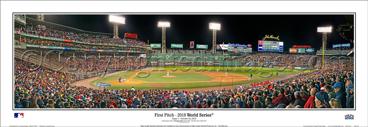 """2018 World Series """"First Pitch"""" Fenway Park Panoramic Poster"""