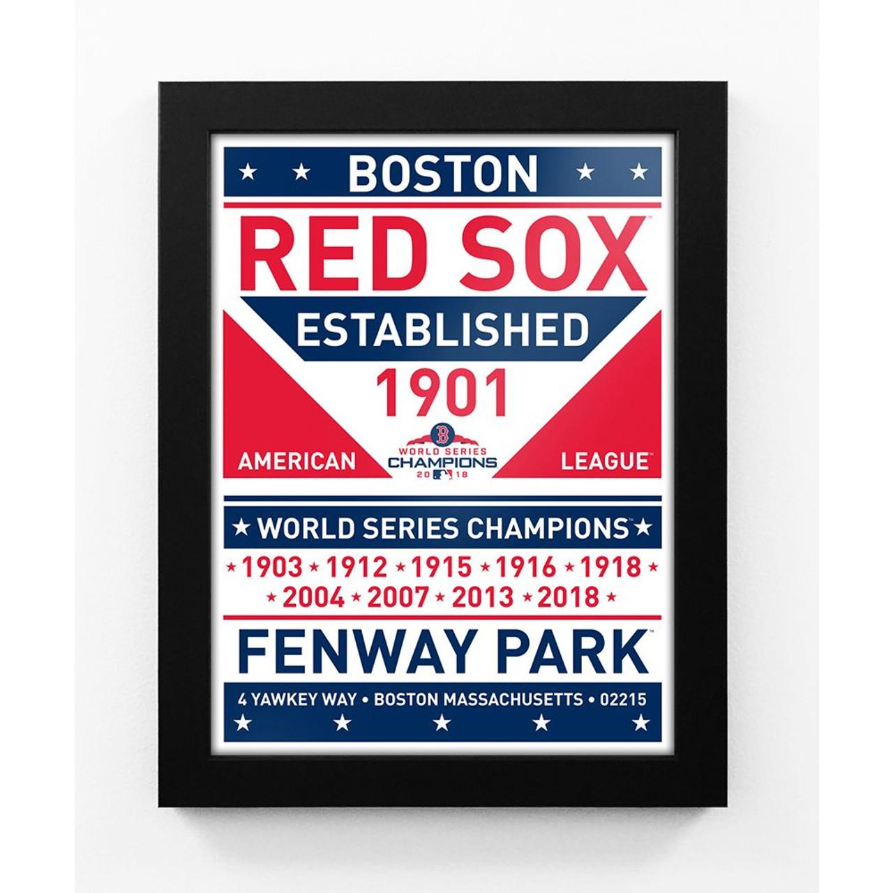 2018 World Series Champions Team Sign Framed Print - Boston Red Sox