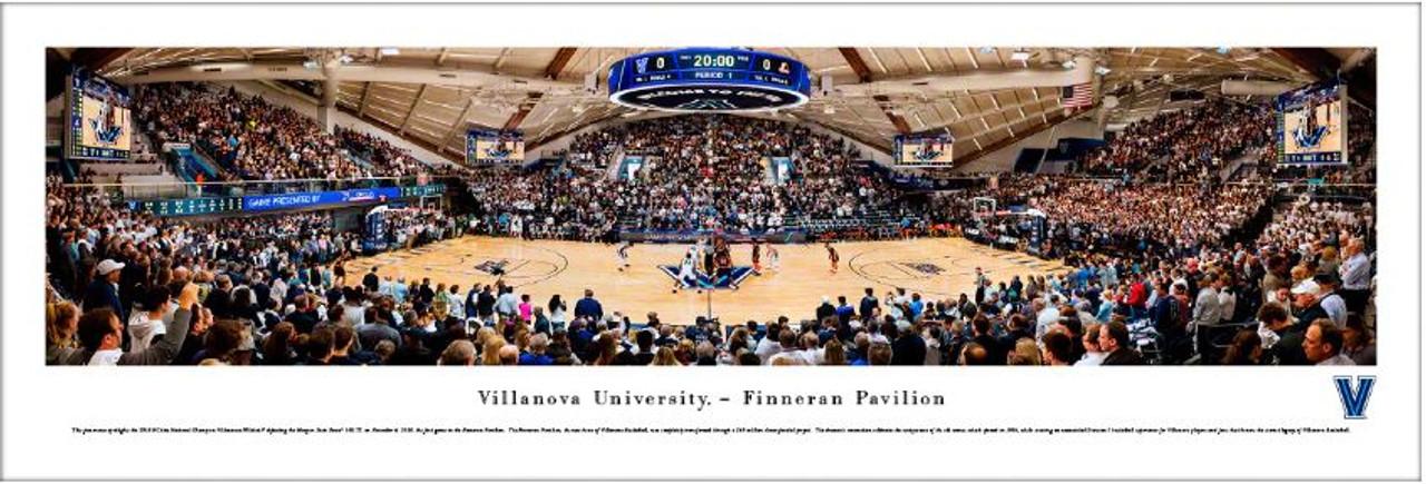 Villanova Wildcats at Finneran Pavilion Panoramic Poster