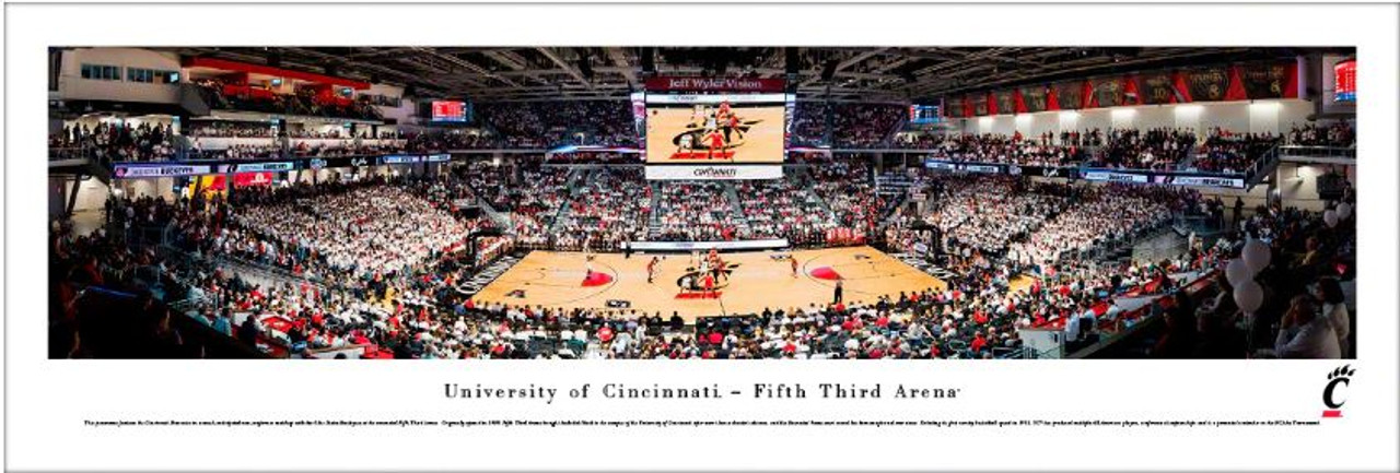 Cincinnati Bearcats vs Ohio State Buckeyes at the Fifth Third Arena Panoramic Poster