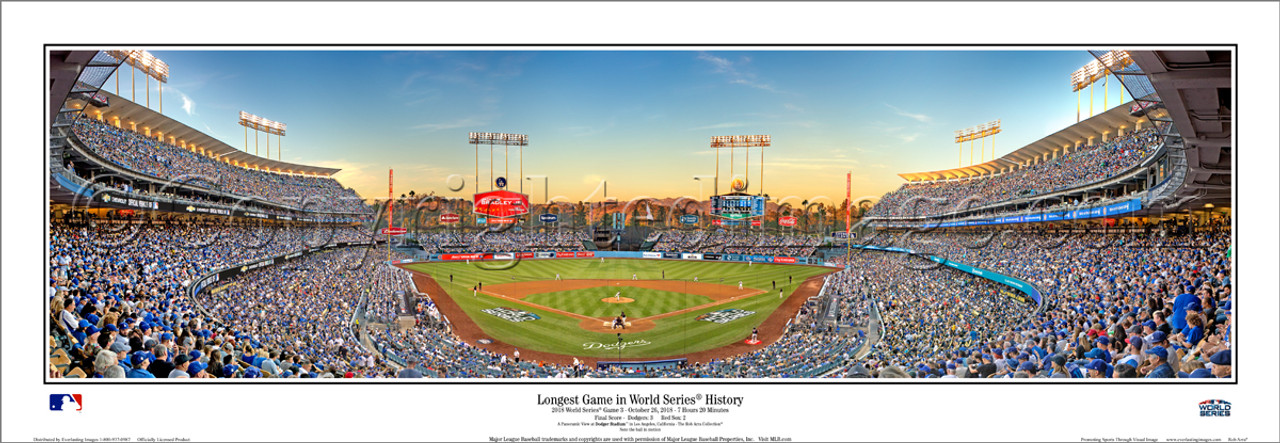 """Longest Game in World Series History"" Dodger Stadium Panoramic Poster"