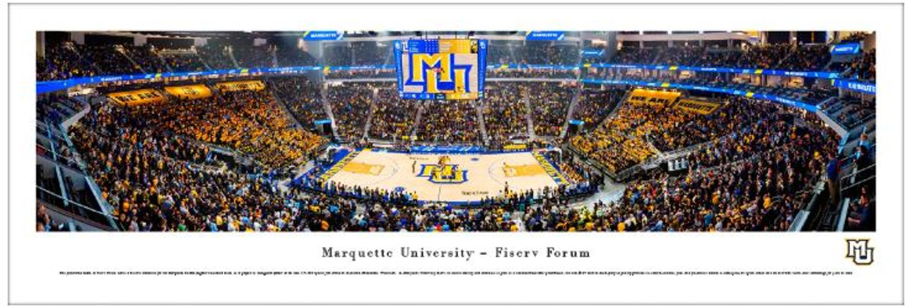 Marquette Golden Eagles at the Fiserv Forum Panoramic Poster