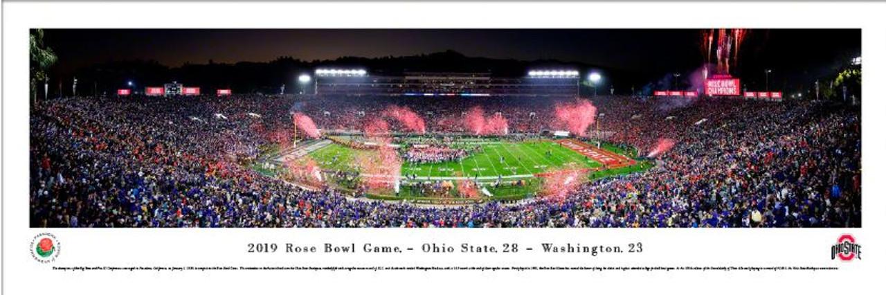 2019 Rose Bowl - Ohio State Buckeyes Victory Celebration Panoramic Poster