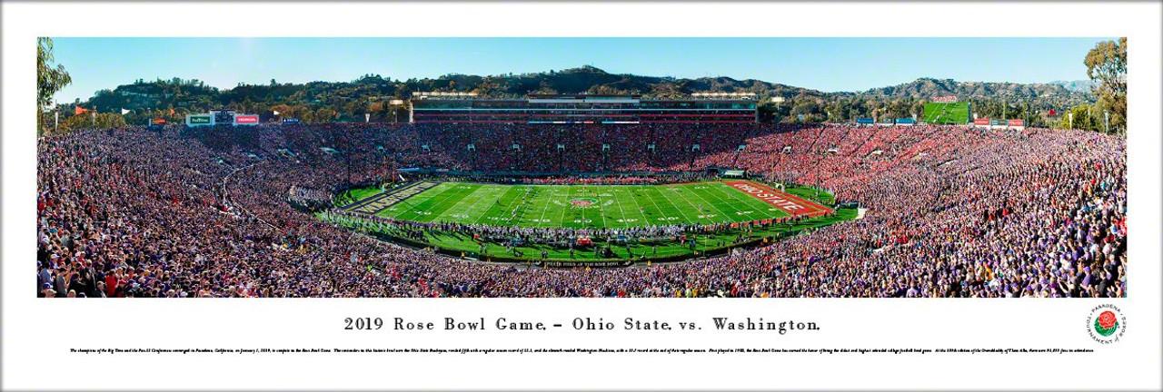 2019 Rose Bowl Kickoff - Ohio State Buckeyes vs Washington Huskies Panoramic Poster