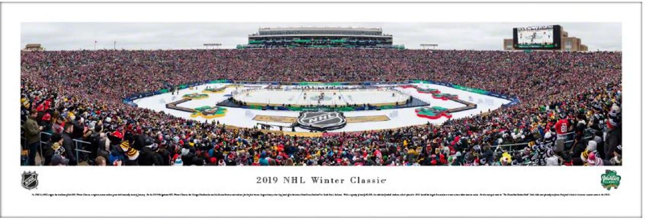 2019 NHL Winter Classic at Notre Dame Stadium Panoramic Poster