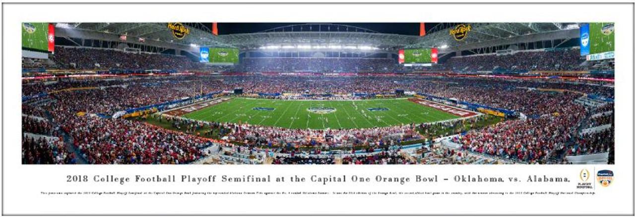 2018 Orange Bowl - Oklahoma Sooners vs Alabama Crimson Tide Panoramic Poster