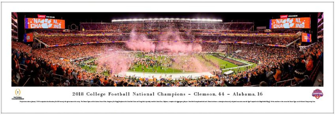 2018 College Football Playoff National Championship - Clemson Tigers Champions Panoramic Poster