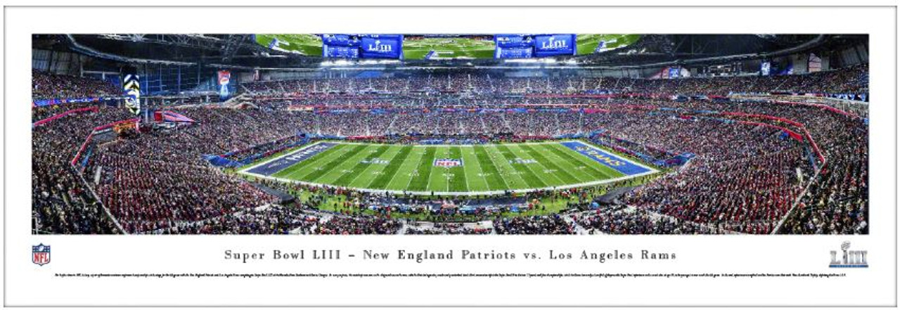Super Bowl LIII New England Patriots vs Los Angeles Rams Panoramic Poster