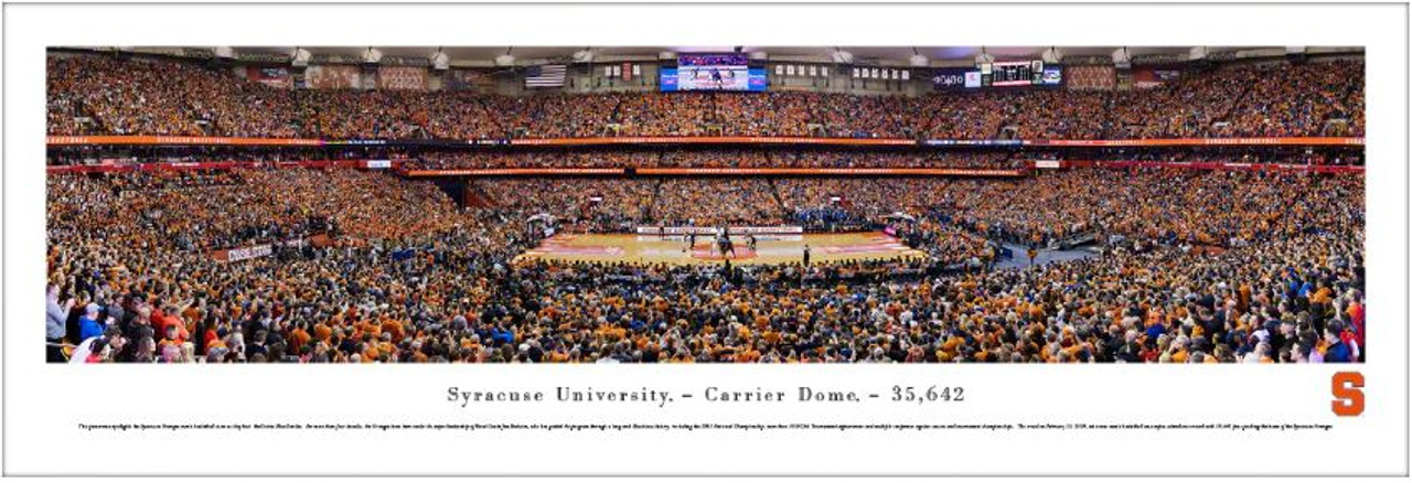 Syracuse Orange at the Carrier Dome Panoramic Poster
