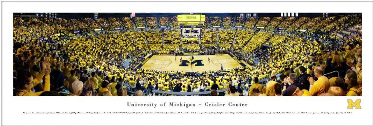 Michigan Wolverines at the Crisler Center Panoramic Poster