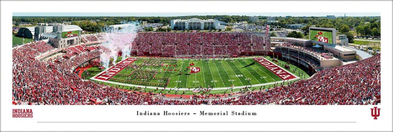 Indiana Hoosiers at Memorial Stadium Panoramic Poster