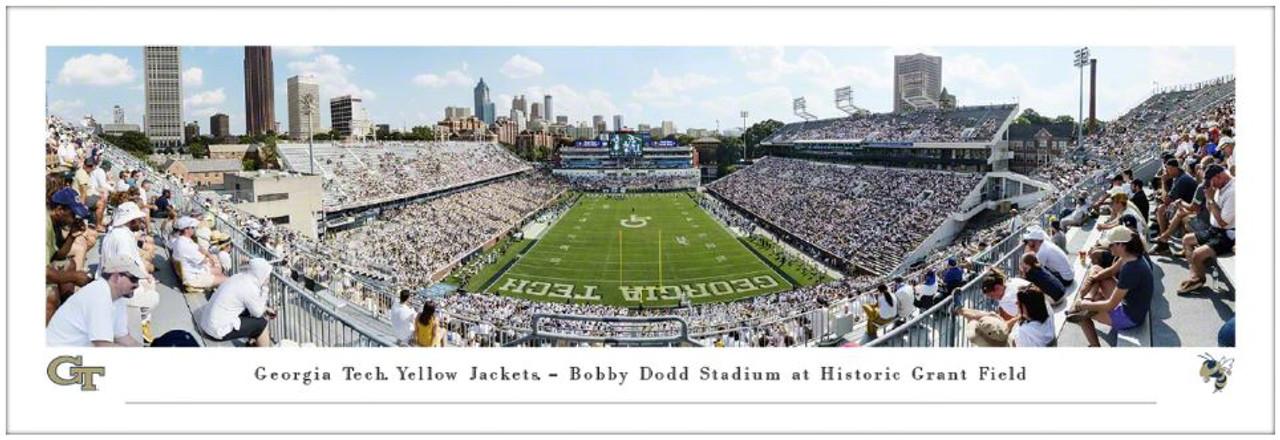 Georgia Tech Yellow Jackets at Bobby Dodd Stadium Panoramic Poster