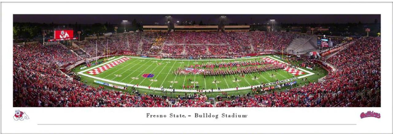 Fresno State Bulldogs at Bulldogs Stadium Panoramic Poster