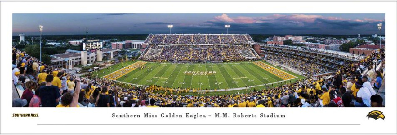 Southern Miss Eagles at Roberts Stadium Panoramic Poster