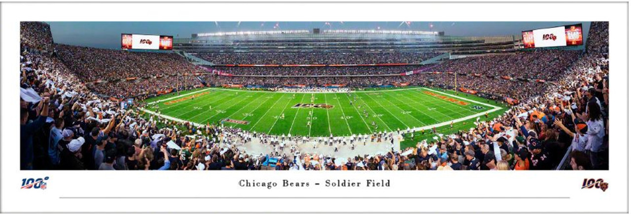 Chicago Bears 50 Yard Line at Soldier Field Panoramic Poster