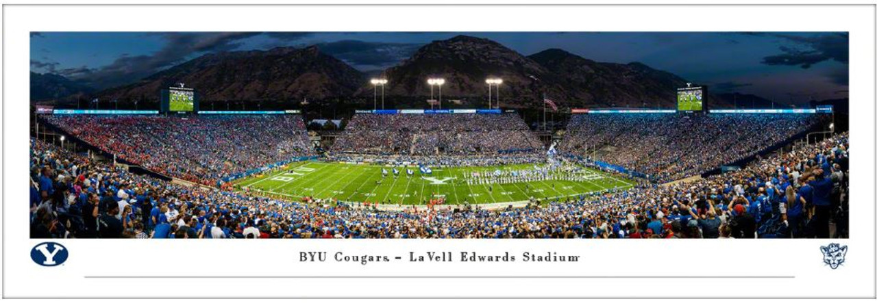 Brigham Young Cougars at LaVell Edwards Stadium Panoramic Poster