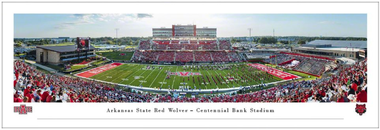 Arkansas State Red Wolves at Centennial Bank Stadium Panoramic Poster