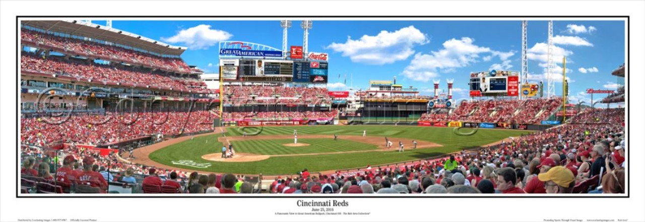 "Cincinnati Reds ""Afternoon Baseball"" Great American Ball Park Panoramic Framed Poster"