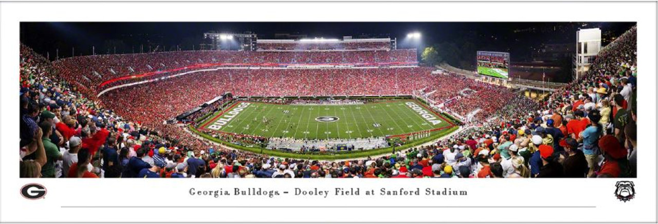 Georgia Bulldogs vs Notre Dame Fighting Irish at Sanford Stadium Panoramic Poster