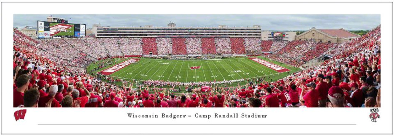 Wisconsin Badgers vs Michigan Wolverines at Camp Randall Stadium Panoramic Poster