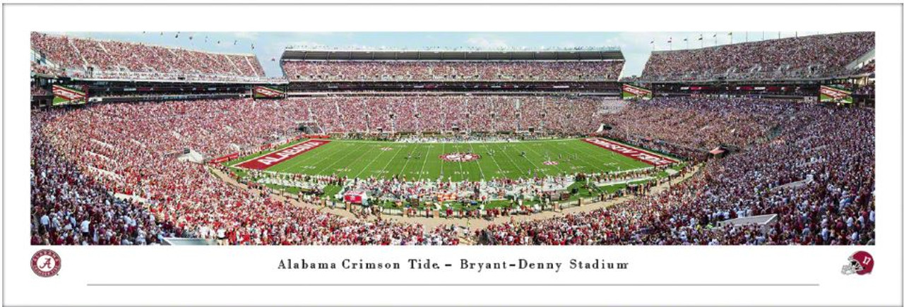 Alabama Crimson Tide at Bryant Denny Stadium Panoramic Poster