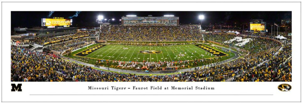 "Missouri Tigers ""50 Yard Line"" at Faurot Field Panoramic Poster"