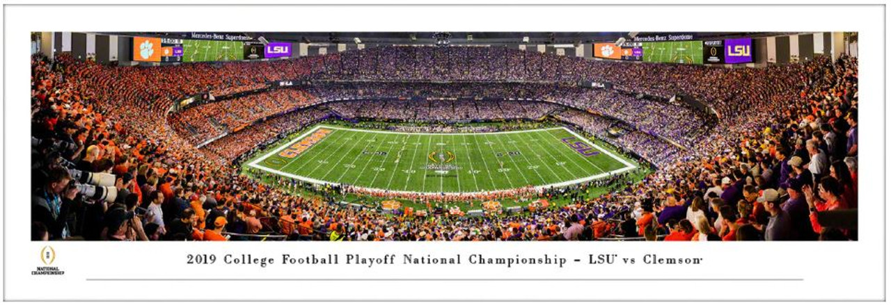 "2020 College Football Playoff National Championship ""Clemson vs LSU"" Kickoff Panoramic Poster"