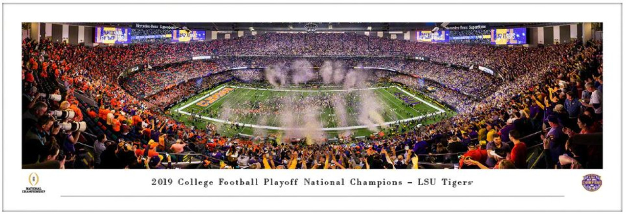 2020 College Football Playoff National Champions LSU Tigers Panoramic Poster