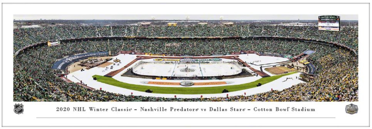2020 NHL Winter Classic - Dallas Stars vs. Nashville Predators Panoramic Poster