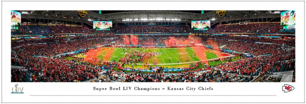 Super Bowl LIV Champions Kansas City Chiefs Panoramic Poster