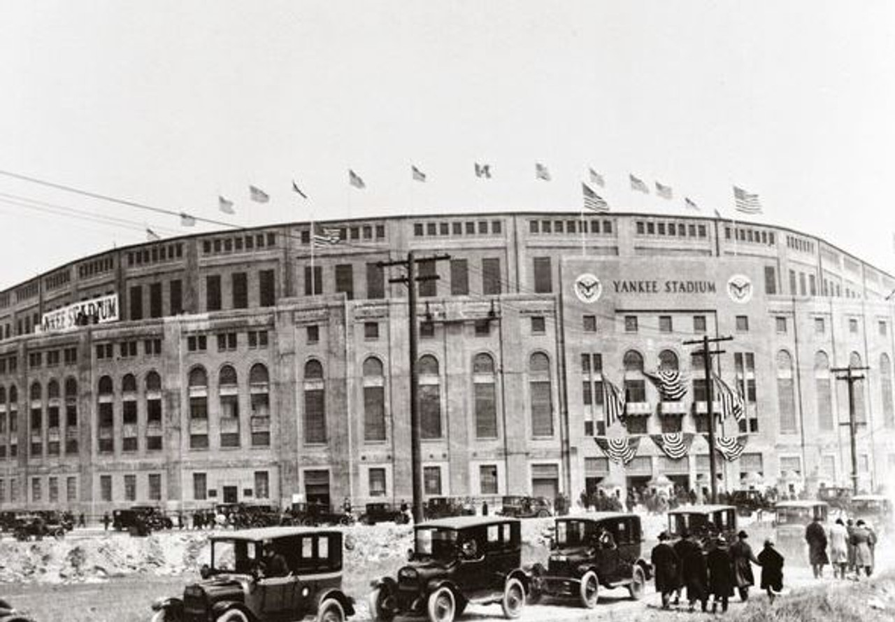 New York Yankees at old Yankee Stadium Exterior Print