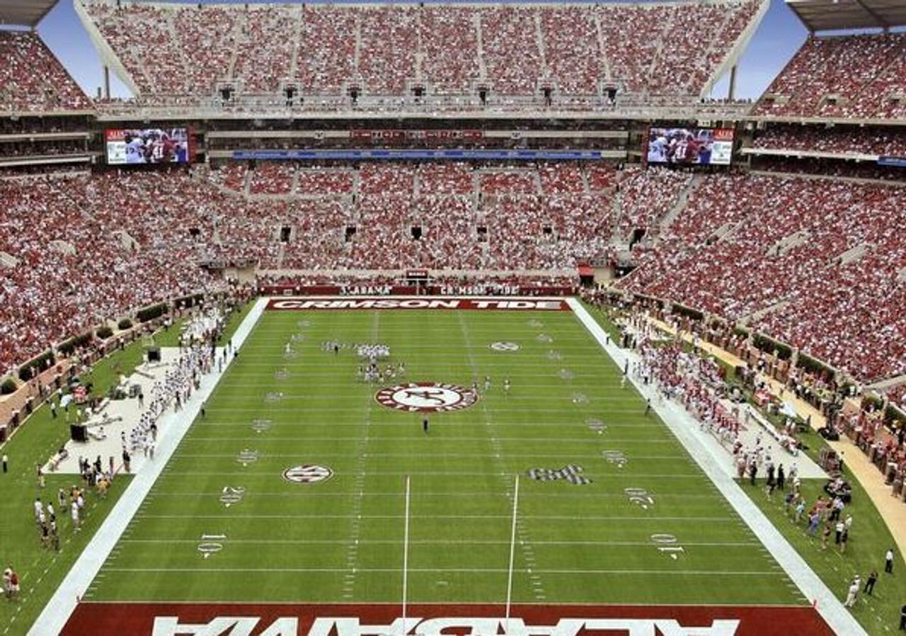 Alabama Crimson Tide at Bryant Denny Stadium EndZone Print