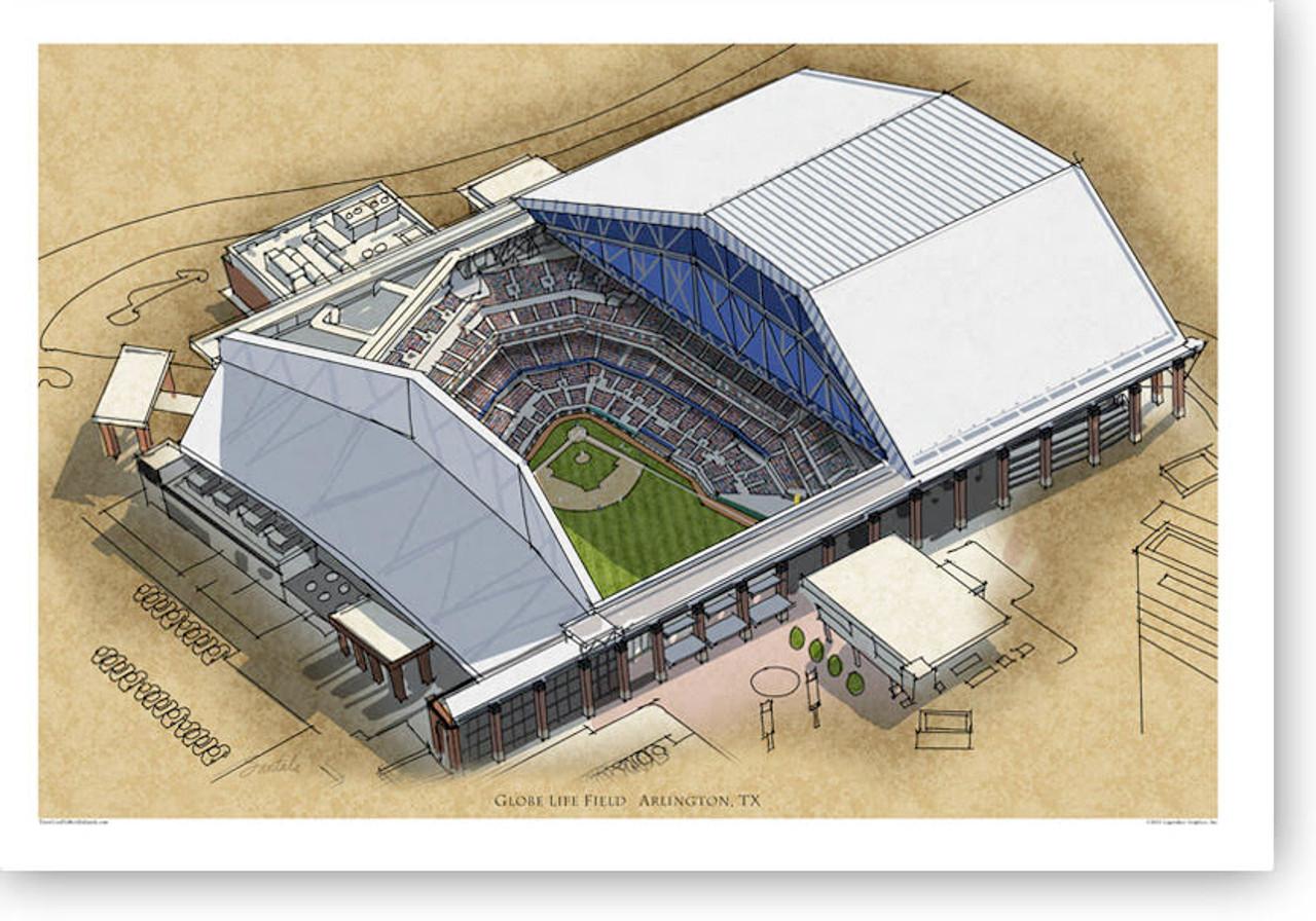 Globe Life Field - Texas Rangers Print