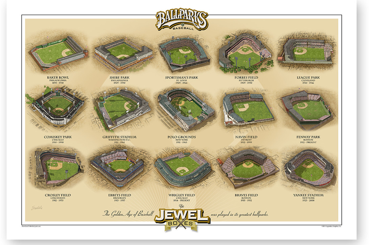 Jewel Boxes Vintage Ballparks Print
