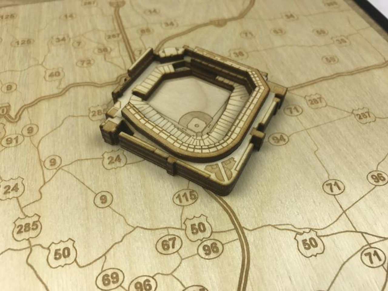 Coors Field - Stadium State Shape Art