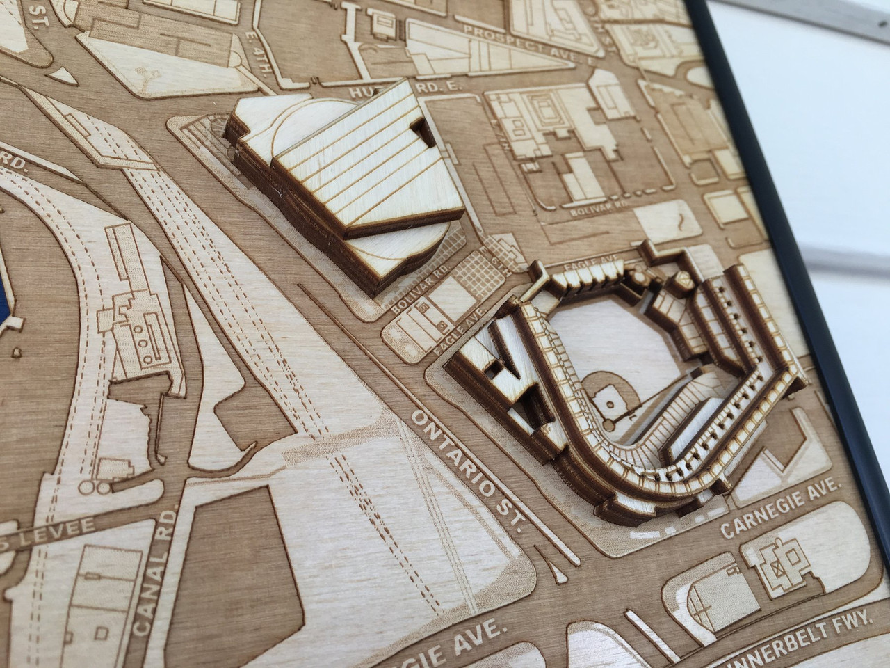 Cleveland, OH City Stadium Map Art