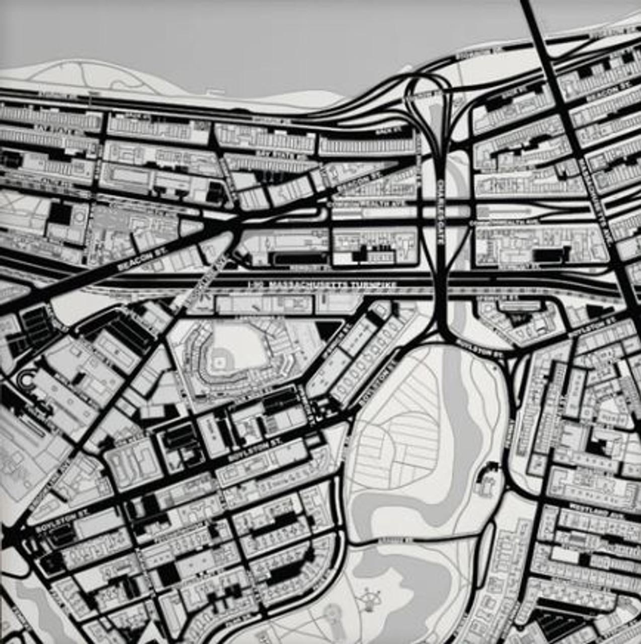 Boston, MA City Stadium Map Art