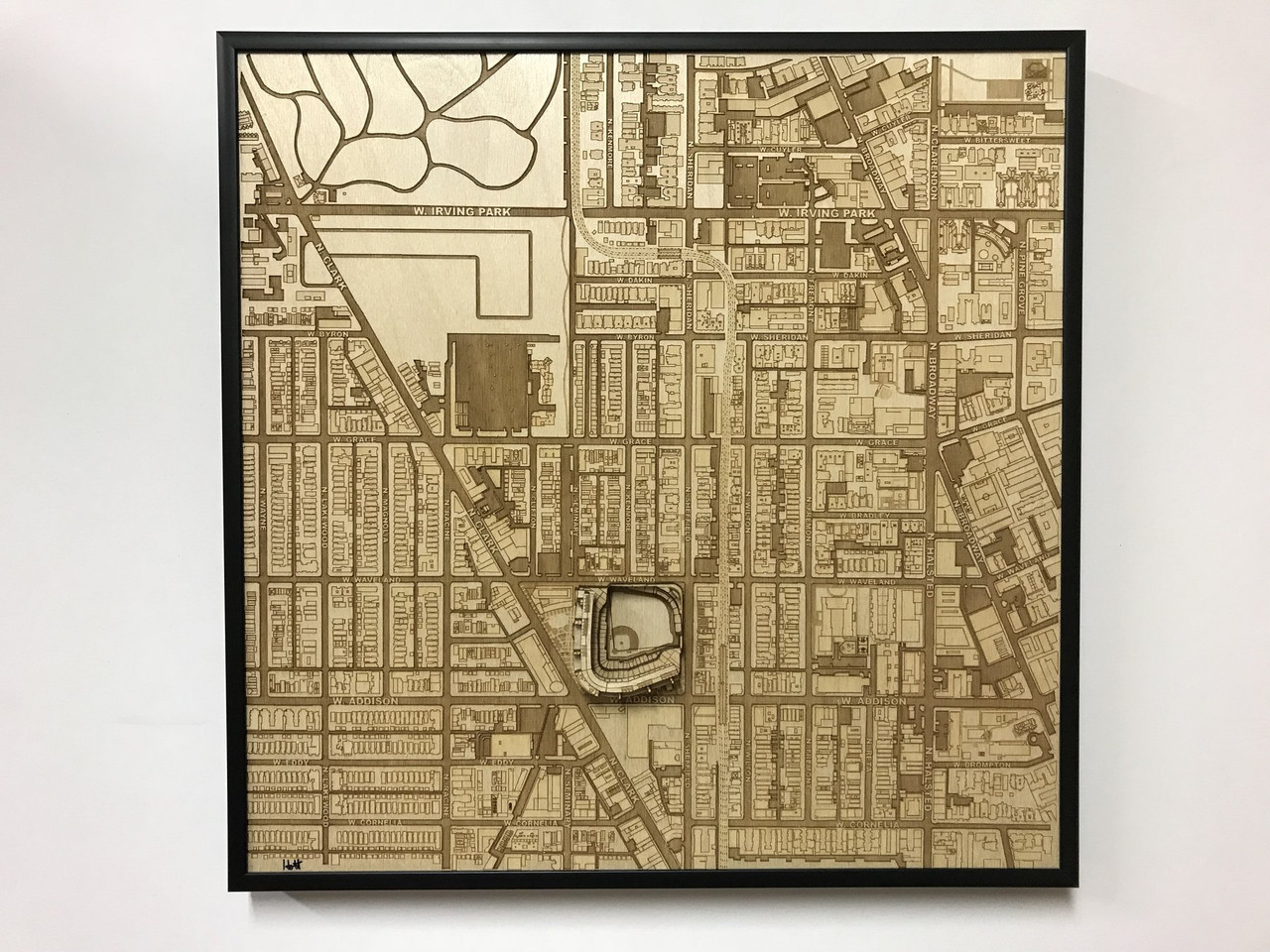 Chicago, IL City Stadium Map Art