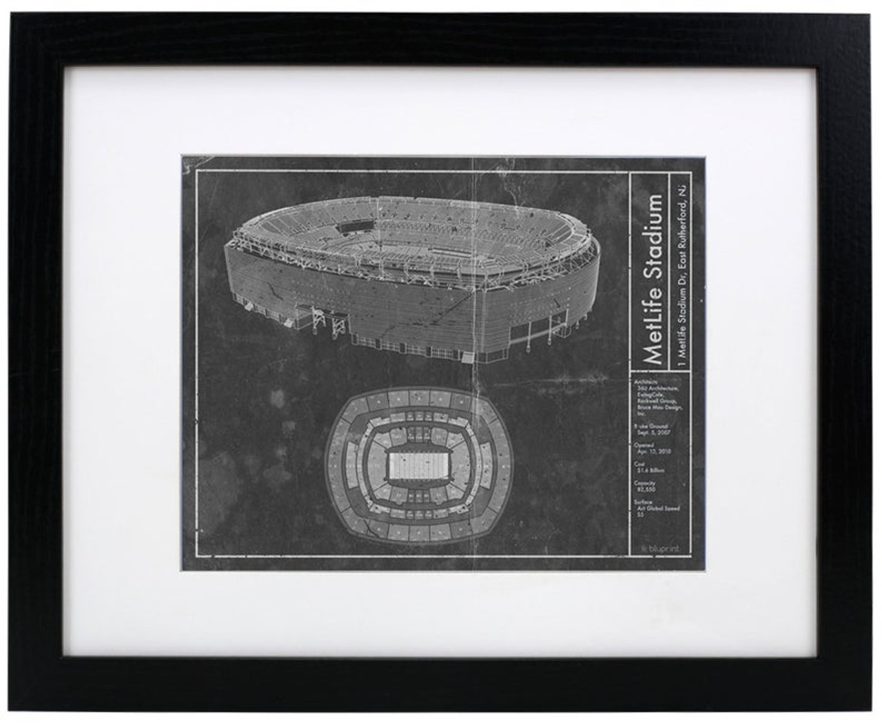 MetLife Stadium - New York Giants/Jets Blueprint Poster