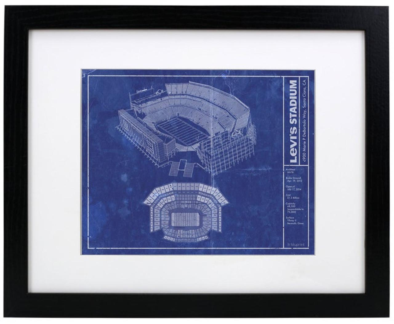 Levi's Stadium - San Francisco 49ers Blueprint Poster