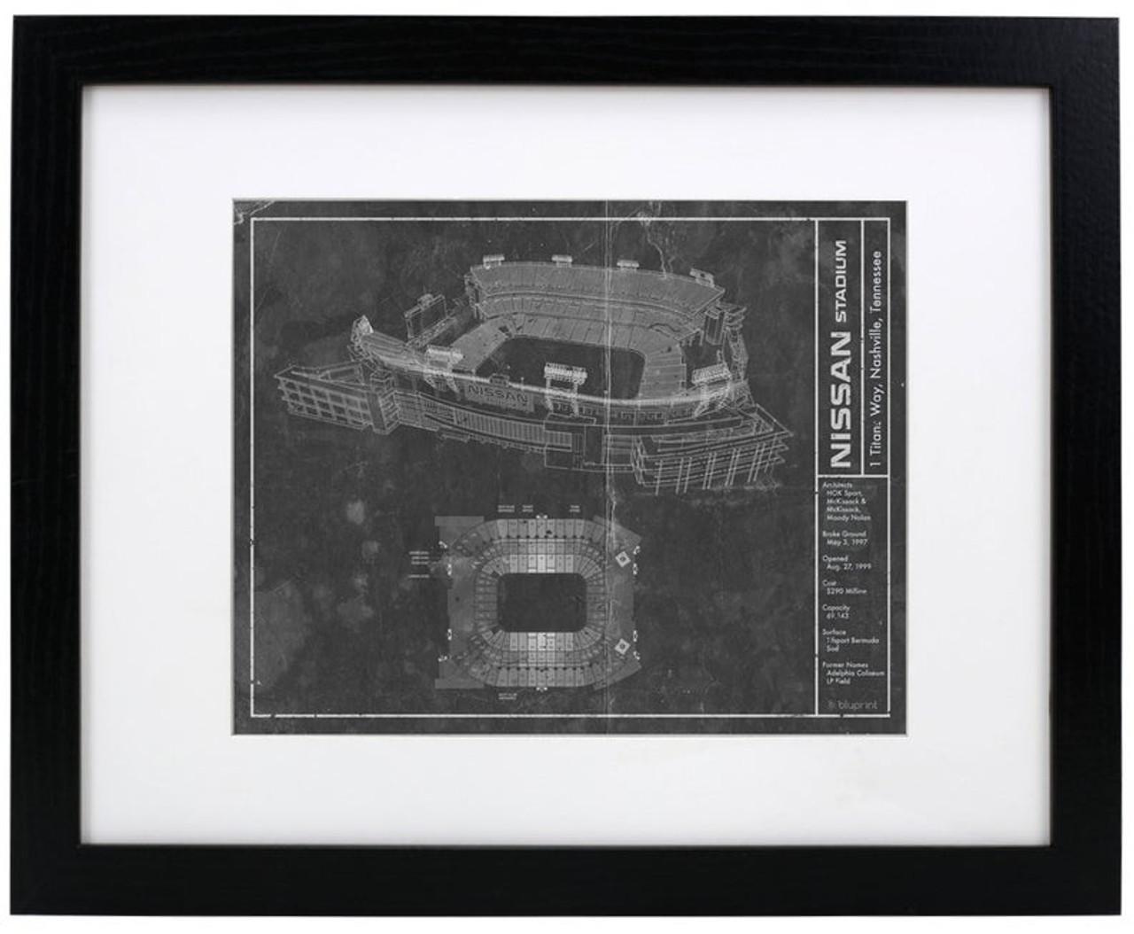 Nissan Stadium - Tennessee Titans Blueprint Poster