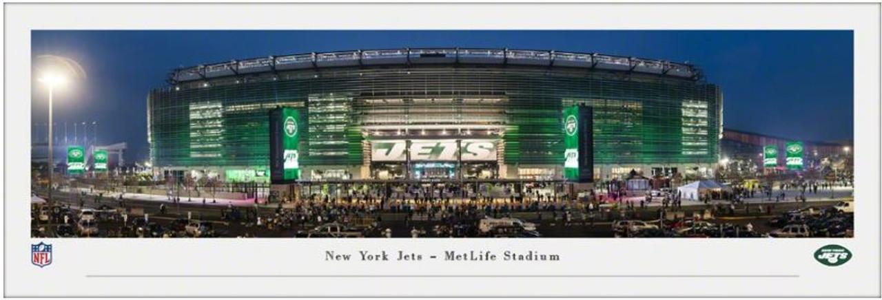 New York Jets at MetLife Stadium Exterior Panoramic Poster