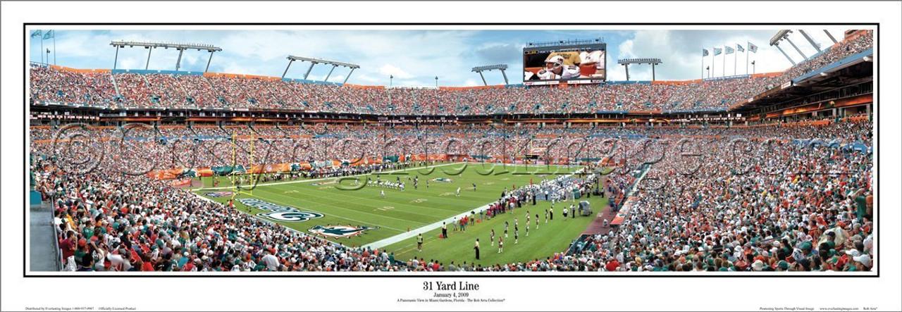"Miami Dolphins ""31 Yard Line"" Sun Life Stadium Panoramic Poster"