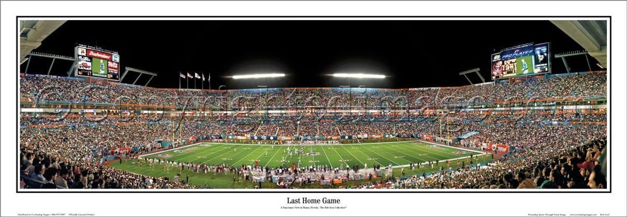 "Miami Dolphins ""Last Home Game"" Sun Life Stadium Panoramic Poster"